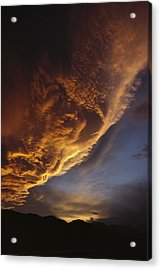 Sunset On Storm Clouds Near Mt Cook Acrylic Print