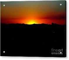 Sunset Over Arizona Acrylic Print by John Potts