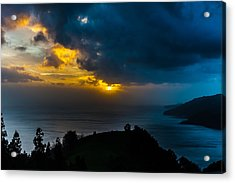 Sunset Over Blue Acrylic Print