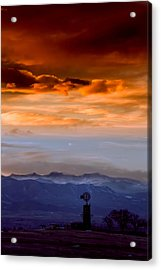 Acrylic Print featuring the photograph Sunset Over The Rockies by Kristal Kraft