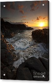 Sunset Pool Acrylic Print by Mike  Dawson