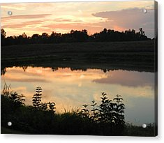 Sunset Reflection Acrylic Print by Linda Brown