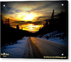 Acrylic Print featuring the photograph Sunset Road by Guy Hoffman