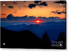 Sunset View From The Blue Ridge Parkway 2008 Acrylic Print