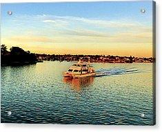 Sunset Yacht Acrylic Print