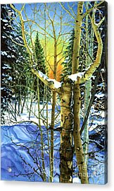 Supplication-psalm 28 Verse 2 Acrylic Print by Barbara Jewell