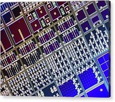 Surface Of Microchip Acrylic Print