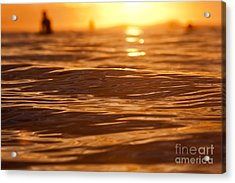 Acrylic Print featuring the photograph Surfers Sunset by Paul Topp