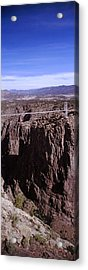Suspension Bridge Across A Canyon Acrylic Print by Panoramic Images