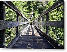 Suspension Bridge Acrylic Print by Susan Leggett