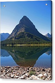 Acrylic Print featuring the photograph Swiftcurrent  Lake Many Glacier by Joseph J Stevens