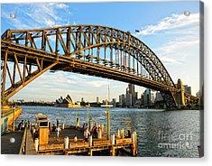 Sydney Harbour Bridge Arching Gracefully Over Sydney Harbour Acrylic Print