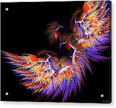 Symbol Of Fire Acrylic Print