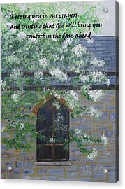 Sympathy Card With Church Acrylic Print