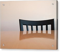 Table And Chair Acrylic Print by Don Spenner