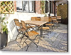 Tables And Chairs Acrylic Print by Tom Gowanlock