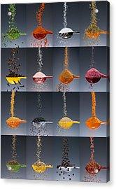 1 Tablespoon Flavor Collage Acrylic Print