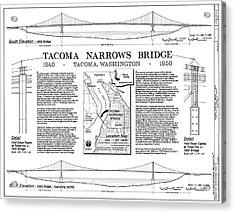 Tacoma Narrows Bridges Compared Acrylic Print