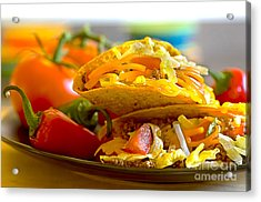 Tacos Acrylic Print