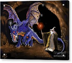 Taming The Beast Acrylic Print by Rick Mittelstedt