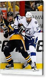 Tampa Bay Lightning V Pittsburgh Penguins - Game Seven Acrylic Print by Justin K. Aller
