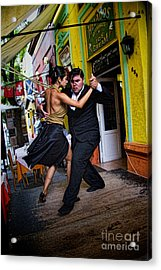 Tango Dancing In Buenos Aires Argentina Acrylic Print by David Smith