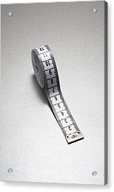 Tape Measure Acrylic Print by Gary Smith/science Photo Library