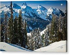 Tatoosh Winter Wonderland Acrylic Print