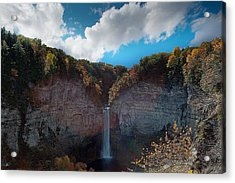 Acrylic Print featuring the photograph Taughannock Falls Ithaca New York by Paul Ge
