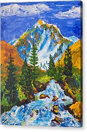Taylor Canyon Run-off Acrylic Print