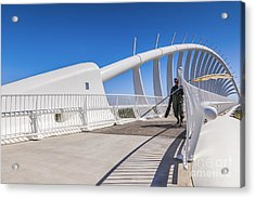 Te Rewa Rewa Bridge Taranaki New Zealand Acrylic Print by Colin and Linda McKie