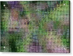 Technology Abstract Acrylic Print by Michal Boubin