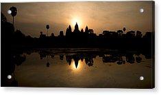 Temple At The Lakeside, Angkor Wat Acrylic Print