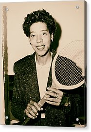 Tennis Great Althea Gibson 1956 Acrylic Print by Mountain Dreams