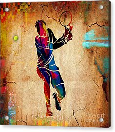 Tennis Painting Acrylic Print by Marvin Blaine