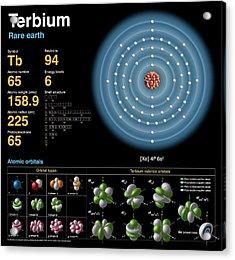 Terbium Acrylic Print by Carlos Clarivan