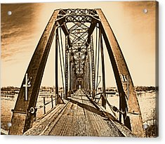 Terry Bridge Acrylic Print by Leland D Howard