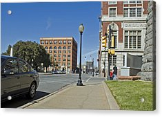 Acrylic Print featuring the photograph Texas School Book Depository by Charles Beeler