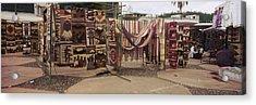 Textile Products In A Market, Ecuador Acrylic Print
