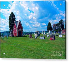 Acrylic Print featuring the photograph Fryburg Cemetery by Gena Weiser