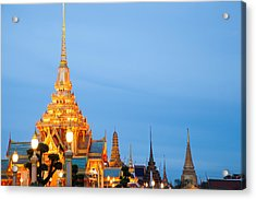 Thai Construction Design. Acrylic Print by Vachiraphan Phangphan