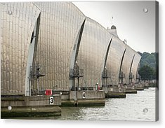 Thames Barrier Acrylic Print by Ashley Cooper