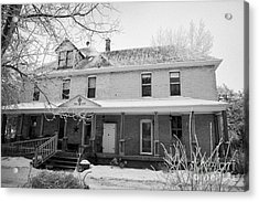 the ananda arthouse in the former st josephs rectory in Forget Saskatchewan Canada Acrylic Print by Joe Fox