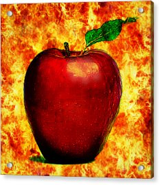 Acrylic Print featuring the digital art The Apple Of Eris by Persephone Artworks