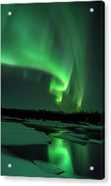 The Aurora Lights Up The Sky In Canada Acrylic Print