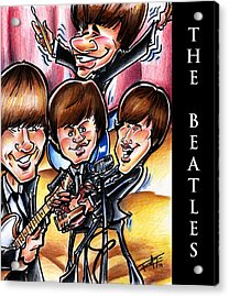 The Beatles Acrylic Print by Big Mike Roate