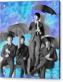 The Beatles Acrylic Print by Paulette B Wright