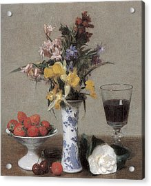 The Betrothal Still Life Acrylic Print by Henri Fantin-Latour