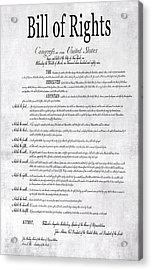 The Bill Of Rights H K Acrylic Print by Daniel Hagerman