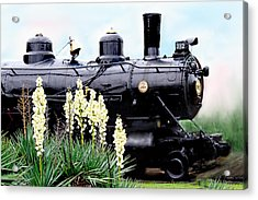 The Black Steam Engine Acrylic Print